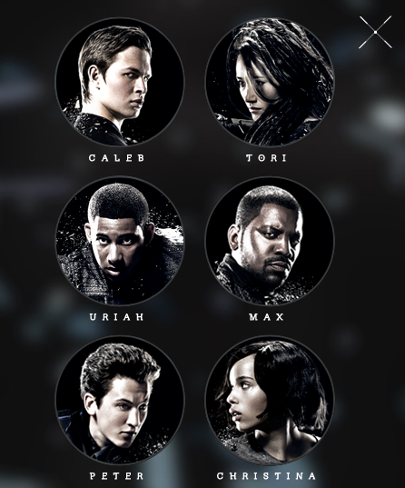 INSURGENT 3D Character Posters Revealed for Caleb, Tori ...